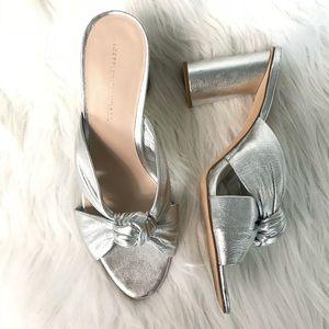 Silver Sandal Slides